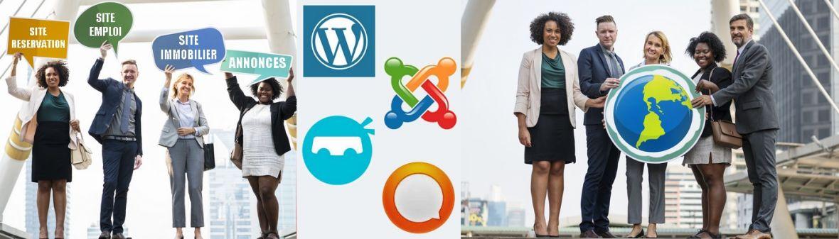 Création site complexe - Création de site à fonctionnalités multiples et spécifiques - WordPress - Joomla - Prestashop