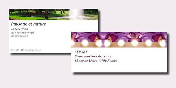 Création carte de correspondance entreprise à ajouter à vos courriers postaux