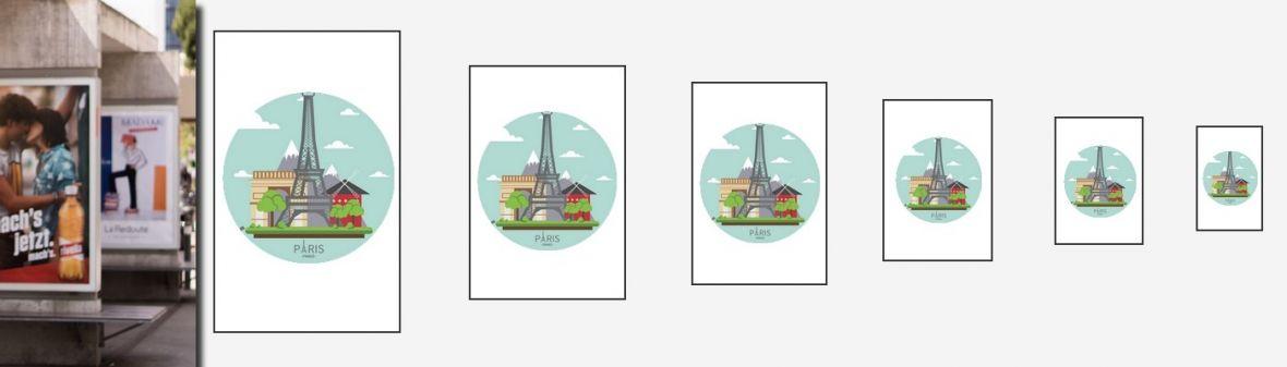 Affichage intérieur et extérieur - Création d'affiche sur mesure