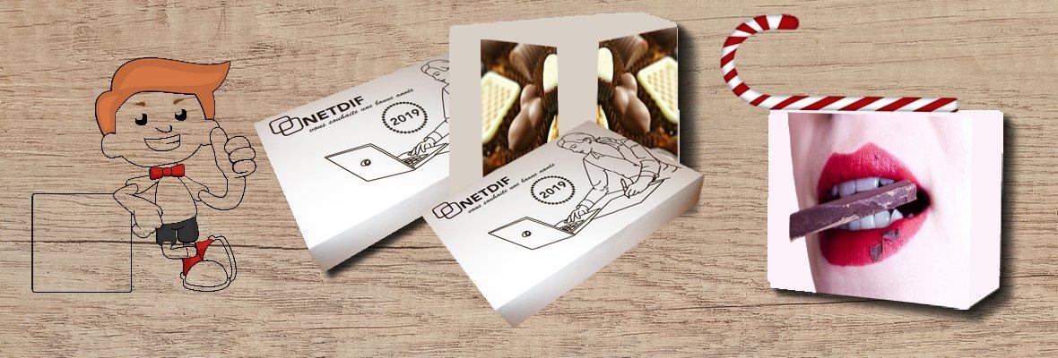Packaging boite personnalisée chocolat, friandises à offrir à vos clients