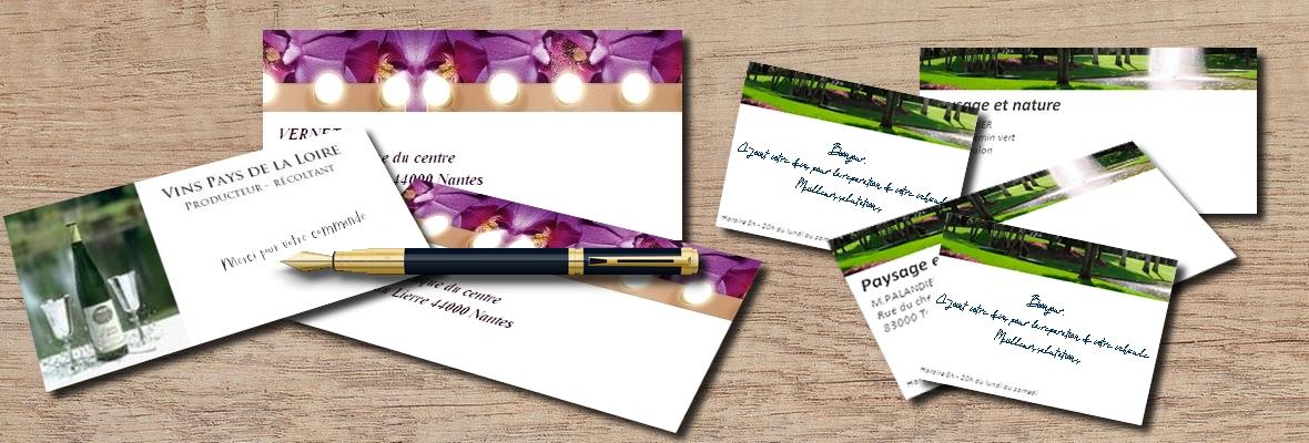 Carte correspondance - Accompagne vos courriers professionnels