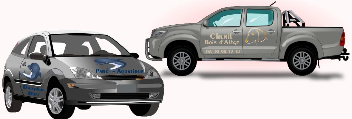 Création d'autocollant grand format pour véhicule