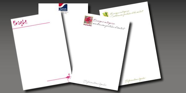 Papier en-tête de lettre